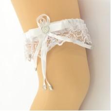 Подвязка белая pod071
