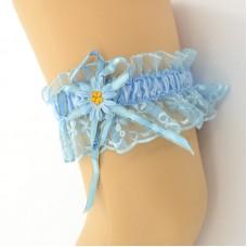 Подвязка голубая pod084