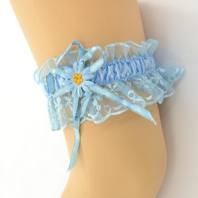 Подвязка голубая pod084 оптом