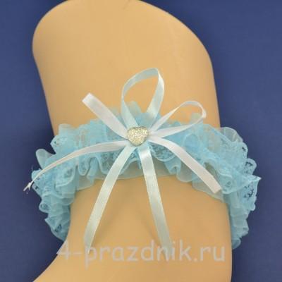 Подвязка невесты голубая pod098 оптом