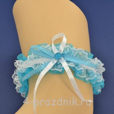 Подвязка невесты синяя pod101 оптом