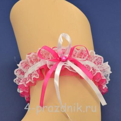 Подвязка невесты малиновая pod103 оптом
