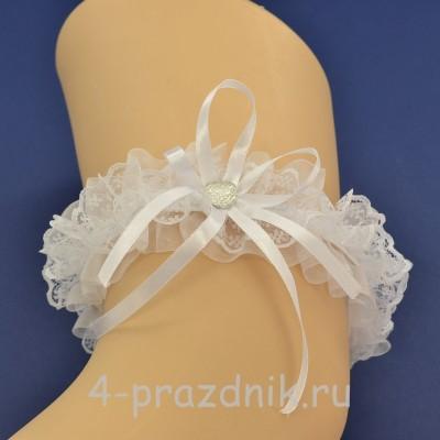Подвязка невесты белая pod108 оптом
