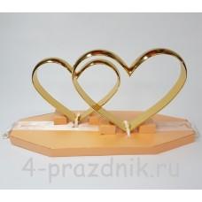 Кольца в виде сердца на  большой подставке  zag004