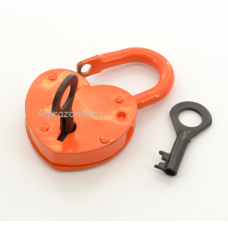 Замок свадебный малый с ключами, оранж
