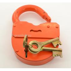 Замок свадебный амбарный с ключами, оранж