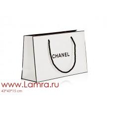 Пакет подарочный CHANEL белый 43*34*14см
