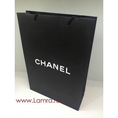 Подарочный пакет Chanel черный 25*34*9 см